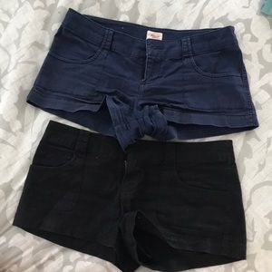 Mossimo black and navy shorts bundle